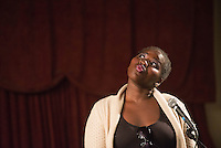 Poetry reading and musical performance at Bergen Community College. / Photo by Russ DeSantis Photography and Video, LLC