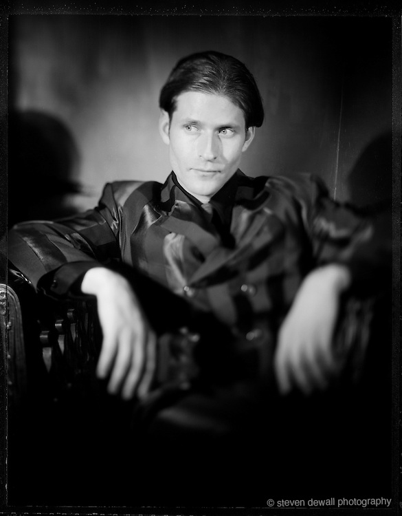Crispin Glover at his home in Silverlake, CA.