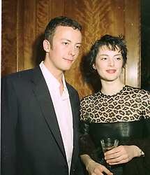 MR NED MACKAY and top model HONOR FRASER  at a party in London on 8th May 1997.LYF 29