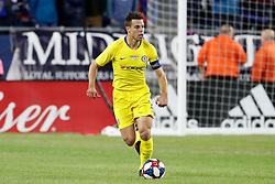 May 15, 2019 - Foxborough, MA, U.S. - FOXBOROUGH, MA - MAY 15: Chelsea FC defender Cesar Azpilicueta (28) pushes forward during the Final Whistle on Hate match between the New England Revolution and Chelsea Football Club on May 15, 2019, at Gillette Stadium in Foxborough, Massachusetts. (Photo by Fred Kfoury III/Icon Sportswire) (Credit Image: © Fred Kfoury Iii/Icon SMI via ZUMA Press)