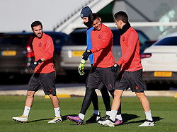 Juan Mata, David de Gea, Marcos Rojo and Ander Herrera of Manchester United walk out to train - Mandatory by-line: Matt McNulty/JMP - 19/10/2016 - FOOTBALL - Manchester United - Training session ahead of Europa League game against Fenerbahce