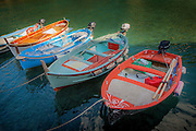 Fishing boats harbor in Vernazza on the Cinque Terre, Italy
