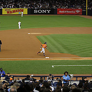 Colby Rasmus, Houston Astros, rounds the bases after hitting a home run in the second inning off Masahiro Tanaka, New York Yankees, during the New York Yankees Vs Houston Astros, Wildcard game at Yankee Stadium, The Bronx, New York. 6th October 2015 Photo Tim Clayton for The Players Tribune