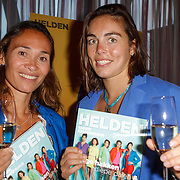 NLD/Ridderkerk/20120911 - Presentatie magazine Helden, Bibian Mentel en Nouchka Fontijn met het magazine