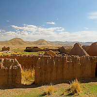 South America, Peru, the Andes. Abandoned dwelling in the Andes.