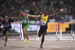 August 7, 2017 - London, STORBRITANNIEN - 170807 Jamaicas Omar McLeod vann 110 meter hÅck under dag fyra av friidrotts-VM den 7 augusti 2017 i London  (Credit Image: © Jon Olav Nesvold/Bildbyran via ZUMA Wire)