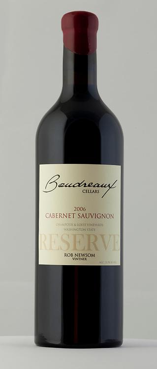 Boudreaux Cellars 2006 Cabernet Sauvignon Reserve Bottle Shot