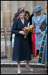March 12, 2018 - London, London, United Kingdom - Image licensed to i-Images Picture Agency. 12/03/2018. London, United Kingdom. Countess of Wessex  leaving  the  Commonwealth Day Service at Westminster Abbey in London. (Credit Image: © Stephen Lock/i-Images via ZUMA Press)