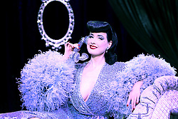 """EXCLUSIVE: Burlesque Artist Dita Von Teese begins the West Coast run of her show """"The Art of the Teese"""" next week in San Diego. But she posed back in February while in NYC for five nights at the Gramercy Theatre in brand new costumes for the two new acts she added to the show. The first was her """"Black Swan"""" costume designed by long time collaborator Catherine D'Lish & the second was a custom Jenny Packham gown for her act called """"Lazy"""". This leg of the show runs through the end of July. 29 Jun 2017 Pictured: Dita Von Teese. Photo credit: Jennifer Mitchell / MEGA TheMegaAgency.com +1 888 505 6342"""