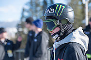 Aleksander Oestreng during Snowboard Slopestyle Practice during 2015 X Games Aspen at Buttermilk Mountain in Aspen, CO. ©Brett Wilhelm/ESPN