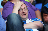 Huddersfield Town reacts after the final whistle as his team lose the match. EFL Skybet  championship match, Reading  v Huddersfield Town at The Madejski Stadium in Reading, Berkshire on Saturday 24th September 2016.<br /> pic by John Patrick Fletcher, Andrew Orchard sports photography.