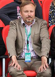 President of AZS Peter Kukovica at 4th Memorial of Matic Sustersic and Patrik Cvetan athletic meeting of Grand Prix Vzajemna, on June 1, 2009, in ZAK, Ljubljana, Slovenia. (Photo by Vid Ponikvar / Sportida)
