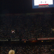 NLD/Amsterdam/20060823 - Ajax - FC Kopenhagen, keeper Jesper Christiansen en het scorebord