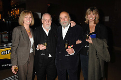 Left to right, SIR PETER & LADY BLAKE and ROY & SALLY ACKERMAN at a party to celebrate the first year if ING's sponsorship of the Renault Formula 1 team, held at the Mayfair Hotel, Stratton Street, London W1 on 28th November 2007.<br />