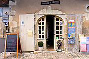 Souvenir shop in traditional French village of Angles Sur L'Anglin, Vienne, near Poitiers, France