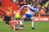 Callum Camps wins the ball during the EFL Sky Bet League 1 match between Charlton Athletic and Rochdale at The Valley, London, England on 4 May 2019.