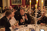 TIMO KULOKOFF,;INNA BAZHENOVA,;;  SIR NICHOLAS SEROTA,   Professor Mikhail Piotrovsky Director of the State Hermitage Museum, St. Petersburg and <br /> Inna Bazhenova Founder of In Artibus and the new owner of the Art Newspaper worldwide<br /> host THE HERMITAGE FOUNDATION GALA BANQUET<br /> GALA DINNER <br /> Spencer House, St. James's Place, London<br /> 15 April 2015