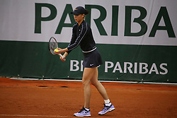 May 21, 2019 - Paris, France - Natal'ja Vichljanceva during the match between Natal'ja Vichljanceva of RUS vs Yanina Wickmayer of BEL in the first round qualifications of 2019 Roland Garros, in Paris, France, on May 21, 2019. (Credit Image: © Ibrahim Ezzat/NurPhoto via ZUMA Press)