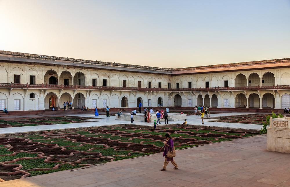 Anguri Bagh or the Garden of Grapes in Agra Fort , India. This garden was known for harvesting choicest of grapes and flowers throughout the year. It was designed to be a pleasant retreat or the paradise garden for the royal ladies and ensured their complete privacy.