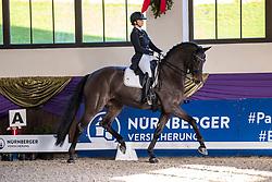 Kronberg, Gestüt Schafhof, KRONBERG _ Int. Festhallen Reitturnier Schafhof Edition 2020,<br /> <br /> SCHROEDTER Jana (GER), Frau Holle 17<br /> NÜRNBERGER BURG-POKAL der Dressurreiter 2020 - Einlaufprüfung <br /> Prix. St. Georges Special für 7-9j. Pferde <br /> Dressurprüfung Kl. S*<br /> <br /> 19. December 2020<br /> © www.sportfotos-lafrentz.de/Stefan Lafrentz