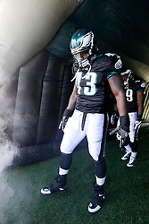 Philadelphia Eagles FB Leonard Weaver #43 enters the field before the NFL game between the Washington Redskins and the Philadelphia Eagles on November 29th 2009. The Eagles won 27-24 at Lincoln Financial Field in Philadelphia, Pennsylvania. (Photo By Brian Garfinkel)