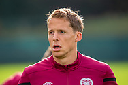 Christophe Berra (#6) of Heart of Midlothian FC during training at The Oriam Sports Performance Centre, Heriot Watt University, Edinburgh, Scotland on 24 September 2019, ahead of the Betfred Scottish Football League Cup quarter-final match against Aberdeen. Picture by Malcolm Mackenzie