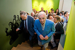 Charles Aznavour visits the Armenian Museum during the inauguration of Charles Aznavour Square, Valence, France on May 13, 2011. Photo by ANDBZ/ABACAPRESS.COM