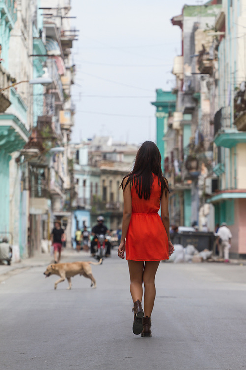 Young woman in Havana, Cuba.