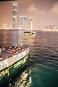 Star Ferry crossing Hong Kong to Kowloon