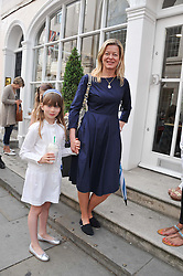 LADY HELEN TAYLOR and her daughter ELOISE TAYLOR at a street party to celebrate HM The Queen Elizabeth 11 Diamond Jubilee held in Motcomb Street, London on 30th May 2012.