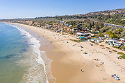 Aerial View of Crystal Cove Cottages and Beach