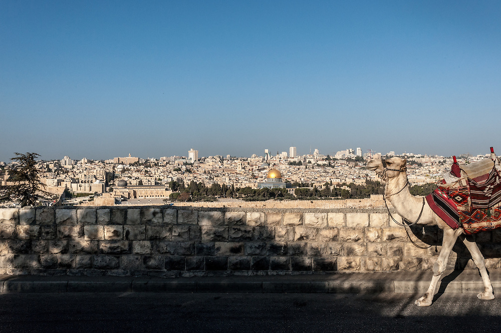 Jerusalem from the road just above the Mount of Olives