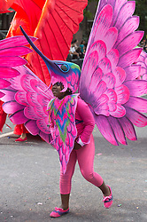 © Licensed to London News Pictures. 27/08/2012 London, England. Performers from Mahogany Carnival Arts. Notting Hill Carnival 2012, the largest street festival in Europe, gets its parade on Adults' Day under way. Photo credit: Bettina Strenske/LNP