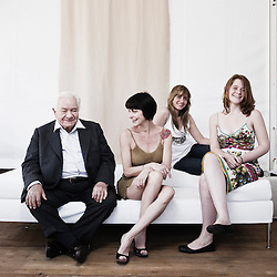 Un Poison Violent's cast (Michel Galabru, Lio, Katell Quillevere and Clara Augarde), at the 63rd Cannes Film Festival. France. 15 May 2010. Photo: Antoine Doyen