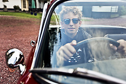 05 Sept 2019. St Denoeux, Pas de Calais, France.<br /> Messing about with cars. Ben in the Lotus Elan Sprint at Festina Lente Gîtes.<br /> Photo©; Charlie Varley/varleypix.com