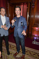 """JIMMY CARR at the presentation of Le Prix Champagne De La Joie de Vivre to Stephen Webster in celebration of his long standing contribution to """"Joie de Vivre' held at the Council Room, One Great George Street, London on 22nd April 2015."""