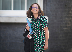 © Licensed to London News Pictures. 19/07/2016. London, UK. Baroness Evans of Bowes Park, Leader of the House of Lords, Lord Privy Seal, arrives in Downing Street for Prime Minister Theresa May's first cabinet.  Photo credit: Peter Macdiarmid/LNP