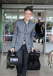 Musician Lyle Lovett, Julia Roberts' former husband, is spotted upon arrival at Nice-Cote d'Azur international airport, in Nice, southern France on May 17, 2012. Photo by ABACAPRESS.COM  | 320560_003