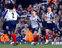 Photo: Daniel Hambury.<br />West Ham United v Portsmouth. The Barclays Premiership. 18/03/2006.<br />Portsmouth's Sean Davis celebrates his goal.0-2.
