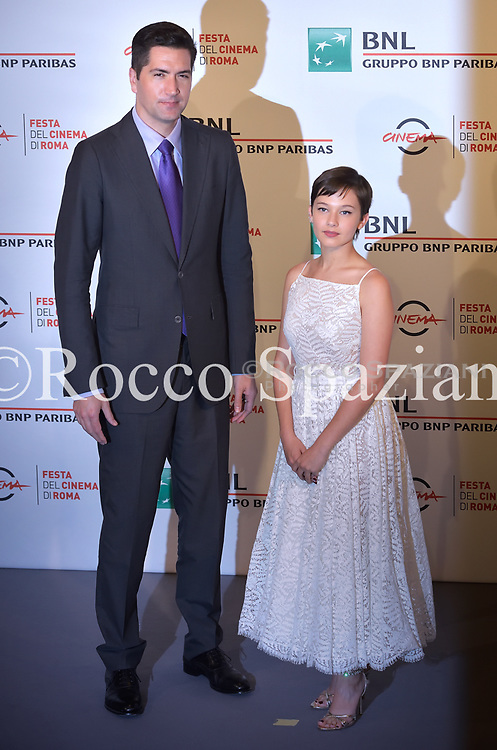 Cailee Spaeny and Drew Goddard walk the red carpet ahead of the 'Bad Times At The El Royale (Sette Sconosciuti A El Royale)' screening during the 13th Rome Film Fest at Auditorium Parco Della Musica on October 18, 2018 in Rome, Italy.