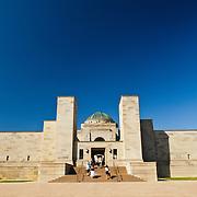 Exterior of the Australian War Memorial in Canberra, ACT, Australia