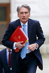 © Licensed to London News Pictures. 03/03/2015. LONDON, UK. Foreign Secretary Philip Hammond attending to a cabinet meeting in Downing Street on Tuesday, 3 March 2015. Photo credit: Tolga Akmen/LNP