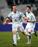 Fotball<br /> Frankrike<br /> Foto: Dppi/Digitalsport<br /> NORWAY ONLY<br /> <br /> FOOTBALL - FRENCH CHAMPIONSHIP 2007/2008 - L1 - OLYMPIQUE MARSEILLE v FC METZ - 24/11/2007 - JOY BOUDEWIJN ZENDEN / SAMIR NASRI (OM) AFTER THE ZENDEN 'S GOAL
