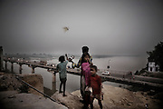 Five hundred million people, about 8 percent of the world's population, live in the Ganges basin. According to a UN report, India occupies the third place in the ranking of 122 countries with the worst quality of water.The recent report of a U.S. agency forecasts, by 2030, the death of Indian sacred river because of global warming, water pollution and construction of dams along the river..Ganges death not only will ravage the economy of that area but, moreover, it will affect deeply the local people spiritual life, with its ancient rituals and traditions October 30, 2008..Kanpur leather factory on the ganga river side. Kanpur is one of the most polluted city in India..