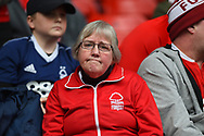 Forest supporter during the EFL Sky Bet Championship match between Nottingham Forest and Derby County at the City Ground, Nottingham, England on 11 March 2018. Picture by Jon Hobley.