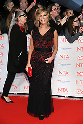 Kate Garraway attending the National Television Awards 2018 held at the O2, London. Photo credit should read: Doug Peters/EMPICS Entertainment