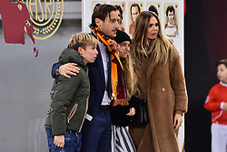 Francesco Totti enters the hall of fame of the Rome-27-11-2018 In the picture Francesco Totti Ilary Blasi with the children Cristian and Chanel