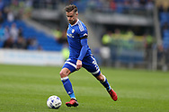 Joe Bennett of Cardiff city in action. EFL Skybet championship match, Cardiff city v Birmingham City at the Cardiff City Stadium in Cardiff, South Wales on Saturday 11th March 2017.<br /> pic by Andrew Orchard, Andrew Orchard sports photography.