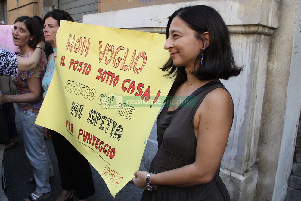 """August 29, 2017 - Naples, Italy - Union Docenti demonstration at the ''Regione Campania''The """"Unione Docenti Immobilizzati""""Campania  has launched a demonstration. at the'' Regione Campania'' at Palazzo Santa Lucia in Napoli,to present a document that encloses the proposals of the teachers who have been transferred to the centers of the center / north as a result of the national recruitment application provided by law. (Credit Image: © Salvatore Esposito/Pacific Press via ZUMA Wire)"""