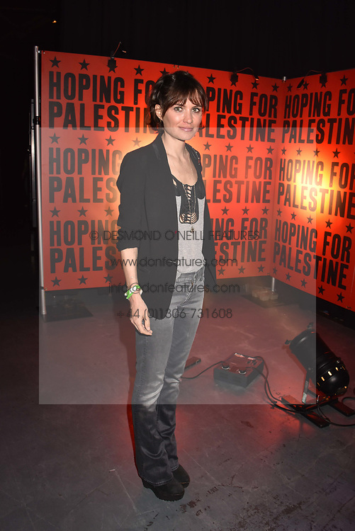 """Sheherazade Goldsmith at """"Hoping For Palestine"""" Benefit Concert For Palestinian Refugee Children held at The Roundhouse, Chalk Farm Road, England. 04 June 2018."""